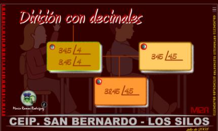 division con decimales. eloviparo