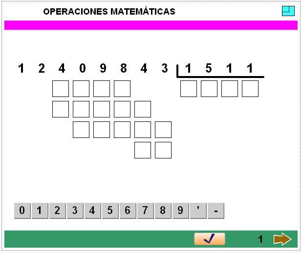 calculo operaciones