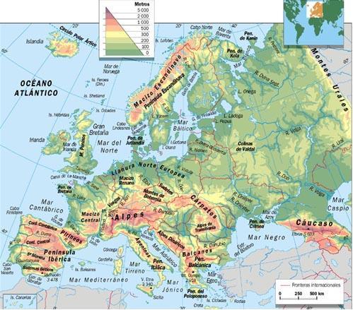Mapa fsico de Europa  Todos no somos mamiferos
