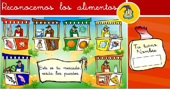 Los alimentos. Educacion infantil. eloviparo