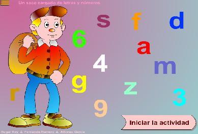 Un saco cargado de letras y números