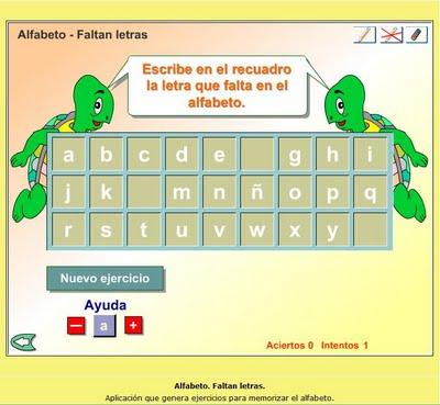 Alfabeto-faltan letras