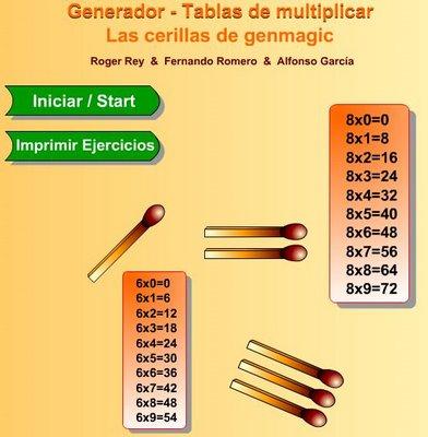 generador tablas de multiplicar