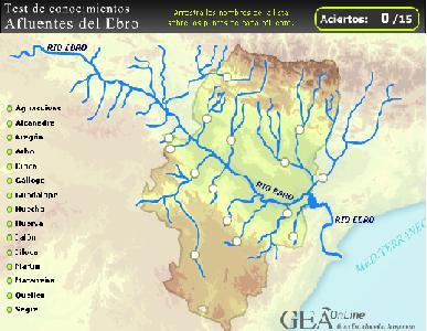 Afluentes Ebro