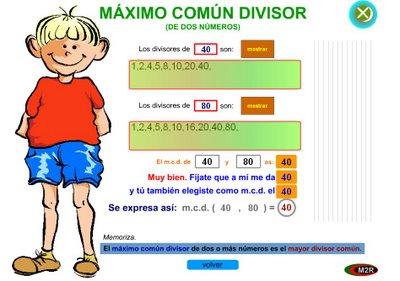 Resultado de imagen de juegos maximo comun divisor